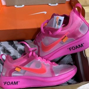 Nike Zoom Fly x Off-White Tulip Pink Racer Sneaker
